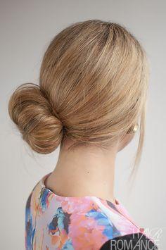 Hair Romance - 30 Buns in 30 Days - Day 25 - Side Sock Bun Hairstyle
