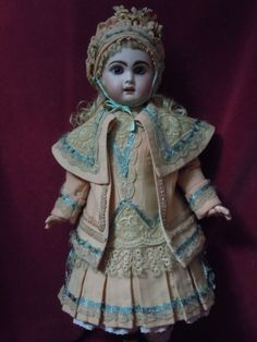 Gorgeous Couturier Costume Dress Jacket Beret for antique french Jumeau Steiner in Dolls & Bears, Dolls, Antique (Pre-1930), Bisque, French | eBay
