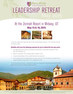 US BellaVita University Leadership Retreat is going to be held on May 15 & 16. Share with a friend that lives in the US today! For details, please refer to below link. 美國美立維大學領袖旅遊訓練將於5月15及16日舉行。今天就跟美國的朋友分享這個訊息! 詳情請按以下連結。https://www.facebook.com/events/731831093596960/