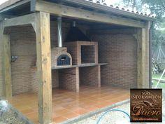 El mejor rincón de su jardín, obra realizada integramente por Alfareriaduero en EL MONTICO (Valladolid) compuesto por todo el conjunto y rematado con horno y parrilla de leña