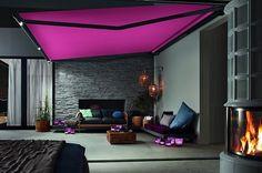 Auvent rétractable couleur très moderne et LED