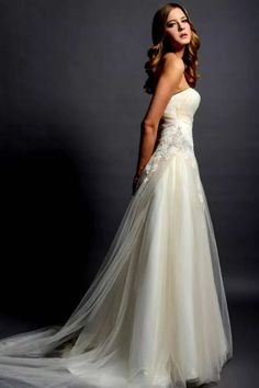 my dream gown - side view