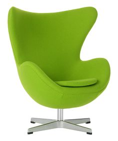 Lime green yolk chair - we think these would go well in our #oldtown office #richardjames