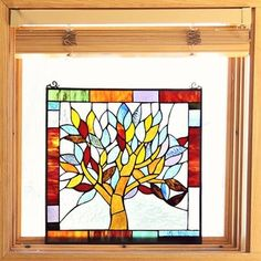 Tiffany Style Mystical World Tree Stained Glass 18-inch Window Panel | Overstock.com Shopping - The Best Deals on Stained Glass Panels