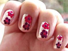 Easy Nail Art Designs No Tools - Easy Flower Nail Art - Crix Tutorials
