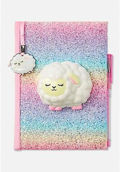 Justice is your one-stop-shop for on-trend styles in tween girls clothing & accessories. Shop our Sheep Squish Journal. Cute Diary, Unicorn Fashion, Cool School Supplies, Unicorn Rooms, Tween Girl Gifts, Stationary School, Disney Princess Ariel, Cute Notebooks, Buy Gift Cards