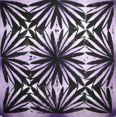 Students learned about the linoleum printmaking process and created a series of Op Art prints. Students studied optical illusions and designed a linoleum tile that created a pattern or optical illusion artwork. The repetition of shapes helps show visual rhythm and movement in their artworks.