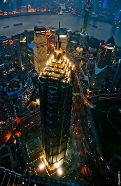 Jin Mao Tower, Shanghai, China  ~ incredible views from the hotel in this building