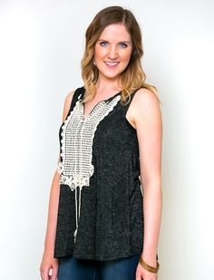 With its feminine crochet detailing and ultra soft fabric, our Cayla Crochet Top will be your go-to piece for spring and summer! This charming tunic features a high quality knit fabric and chic front tassels that give you a classic, bohemian look! Add your favorite denim and some sandals to polish off this one of a kind top!