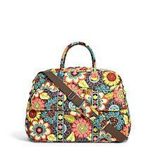 Grand Traveler Bag in Clementine   Vera Bradley