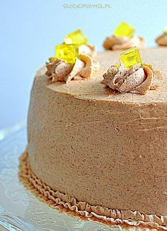 Tort cynamonowy z ananasem. Polish Desserts, Polish Recipes, Polish Food, Cinnamon Cake, Pineapple Cake, Cake Designs, Vanilla Cake, Panna Cotta, Sweet Tooth
