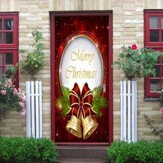 Christmas Bells Pattern Door Cover Stickers - COLORMIX COLORMIX
