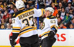 Brad Marchand's short pass was perfect chance for Patrice Bergeron.
