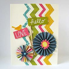 Handmade Cards! Why didn't I think of that?... Card: Hello Love - Pebbles