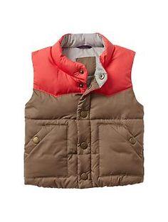 Warmest colorblock puffer vest