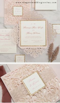 blush and gold is a very popular wedding colors for spring and summer #ewi # blush #weddinginvitations