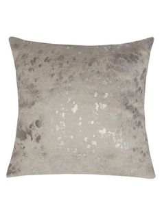 Metallic Cowhide Pillow by Le-Coterie at Gilt