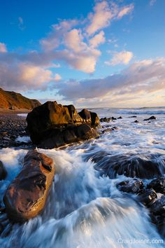 Sandymouth on the North Cornwall coast, Bude, Cornwall, England, United Kingdom.