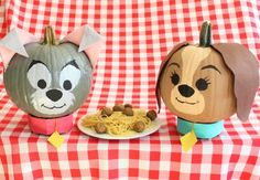 Lady and the Tramp pumpkins @thehealthymouse