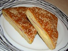 Olga's cuisine...και καλή σας όρεξη!!!: Φοκάτσια(focaccia) με ζαμπόν και τυρί