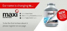 - Maximuscle Brand Name Change Name Change, Brand Names, Innovation, Nutrition, Products, Gadget