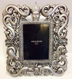Disney Park Silver Gray Hidden Villains Character Glass 5x7 Inch Frame Photo Frame Disney http://www.amazon.com/dp/B00I4FH1T6/ref=cm_sw_r_pi_dp_JbPzvb17DMM8F