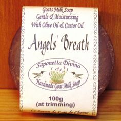Hand Made Goat Milk Soap /  Angels Breath  at the Shopping Mall, $5.50  Discounted Price: $4.67 (CAD) Christmas Morning, Christmas Gifts, Goat Milk Soap, Castor Oil, Mistletoe, Soap Making, Shopping Mall, Soaps, Ecommerce