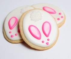 Easter Bunny Sugar Cookies - guiltyconfections.etsy.com