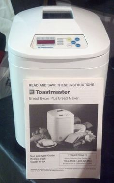 Bread Maker in SoonToBeYours' Garage Sale in Grand Rapids , MI for $15. Toastmaster Breadbox Plus Bread Maker - Model 1148X with instruction manual. In new condition, only been used 2 times.    Features: Crust Control, Keep Warm Function, LCD Display, Non-Stick, Rapids Bake, Timer   Power: ...