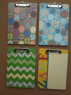Check out this easy to follow tutorial on how to decorate clipboards! Love the way they turned out.