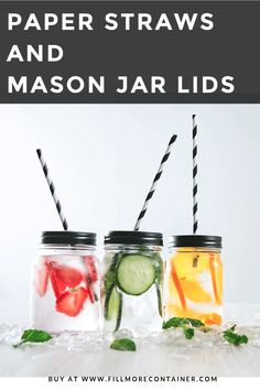 Paper straws in a vibrant range of colors, sizes and patterns and Mason jar straw lids! Candy Apple Red, Candy Apples, Red Apple, Mason Jar Drinks, Mason Jar Lids, Shrub Recipe, Mason Jar With Straw, Stainless Steel Straws, Paper Straws