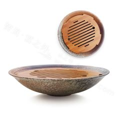 Zhimei handmade Japanese antique ceramic coarse pottery glaze bamboo bamboo tea tray tea Kung Fu tea tea in Taiwan