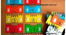 """Con motivo del nuevo proyecto sobre la Edad Media he preparado para mis chicos estos castillos para trabajar los números """"anterior"""" y """"poste... Numero Anterior Y Posterior, Fairy Tale Activities, School Resources, Special Education, Fairy Tales, Games, Dyscalculia, Mathematics, Fairytail"""