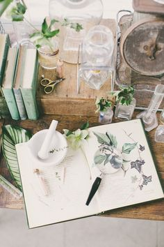 Vintage Botanical Wedding Stationery