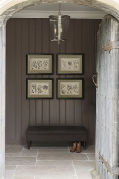 Neptune Accessories Prints - Whitechapel Botanical Art X Masculine Interior, Gray Interior, Modern Interior Design, Interior Design Inspiration, Interior And Exterior, Hallway Inspiration, Modern Country, Country Decor, Country Style