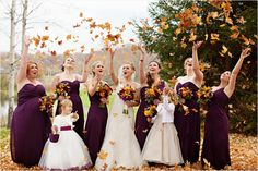 perfect inspiration for our wedding love the bridemaids' dresses! deep purple, plum