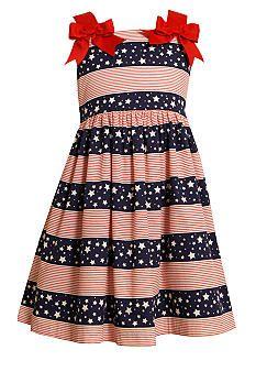 Bonnie Jean® Stars and Stripes Bow Dress Girls 4-6X - Belk.c-----pinned by Annacabella