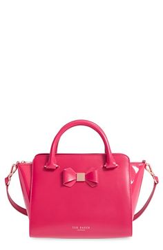 Ted Baker London 'Ashlene - Bow' Tote Big Handbags, Happy Colors, Wallets For Women, Purse Wallet, Women's Satchels, Ted Baker, Hot Pink, Nordstrom, Gucci