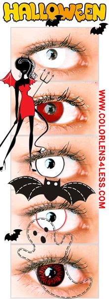 halloween contact lenses and colored contact lenses at wwwcolorlens4lesscom coloredcontacts