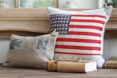 Love the flag pillow