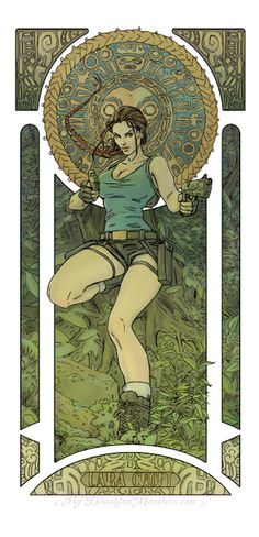The Geeky Nerfherder: #CoolArt: 'Pop Culture Art Nouveau' by Lily McDonn...
