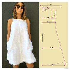 Ideas dress pattern sewing women for 2019 Easy Sewing Patterns, Sewing Tutorials, Clothing Patterns, Sewing Projects, Sewing Tips, Sewing Hacks, Dress Tutorials, Free Sewing, Clothing Ideas