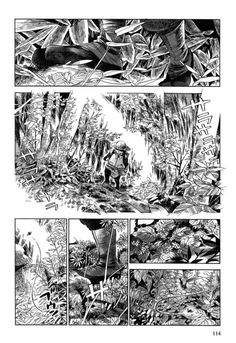 Read manga Gunjou Gakusha Forest of Wonder online in high quality Comic Book Pages, Comic Books Art, Comic Art, Comic Manga, Manga Comics, Texture Drawing, Line Drawing, Comic Frame, Black And White Comics