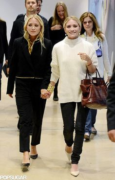 Mary-Kate and Ashley Olsen were all smiles (and holding hands!) in Sweden