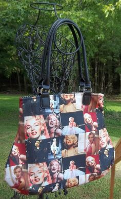 Marilyn Monroe Fabric Handbag Marilyn Monroe by SadiesSnippets