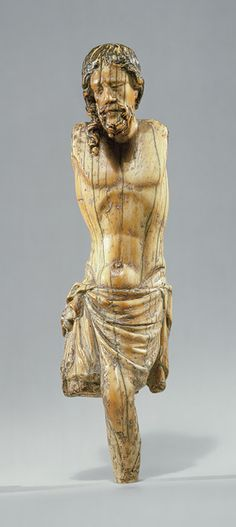 Corpus of Christ, ca. 1250 French; Possibly made in Paris Elephant ivory, traces of paint