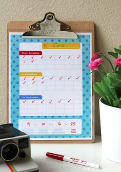 It's time for spring cleaning! Fun DIY rewards for chores with cute printable charts to motivate your kids!