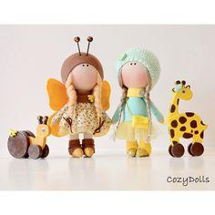 Рост девочек 24 см. Не продаются . #интерьернаякукла#интерьернаяигрушка#кукла #красота #уют #cozydolls #fabricdoll #handmade #подарок