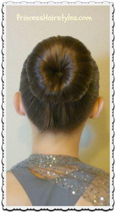 "The ""perfect bun"" and no-heat curls tutorial #dancehair"