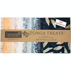 Timeless Treasures Fabrics Tonga Batiks Horizon Mini Treats Charm Squares | Fabric Square 5 Inch Hancocks Of Paducah, Timeless Treasures Fabric, Tonga, Fabric Squares, Coordinating Fabrics, Quilt Kits, Free Pattern, Charmed, Treats